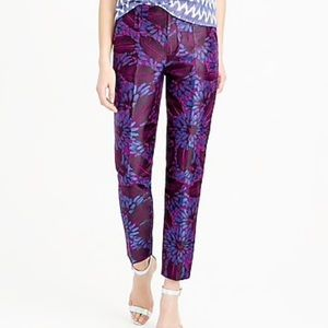 J. Crew GARDEN PANT IN MIDNIGHT FLORAL JACQUARD 00